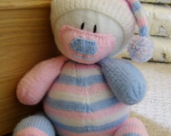 KNITTING PATTERN   Nursery Bear Door Stop Knitting Pattern Download From  Knitting By Post