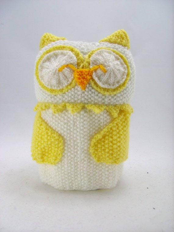 Knitting Pattern For Toilet Paper Holder : KNITTING PATTERN - Owl Toilet Roll Holder Knitting Pattern Download From Knit...