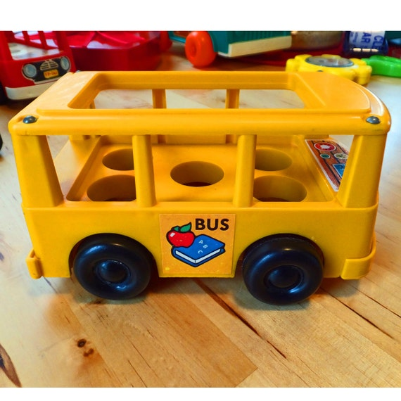 fisher price bus vintage by sammiesuevintage on etsy. Black Bedroom Furniture Sets. Home Design Ideas