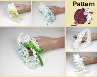 Garter Crochet  Wedding / Pattern Crochet garter / Symbols Crochet / Pattern n. 180 Crochet garter wwedding