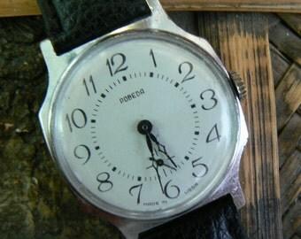 Vintage Soviet Men's Watch POBEDA (1970-1980's) / Mechanical watch / Ussr / Soviet Union
