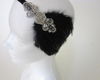 Custom Bridal Headpiece, Custom made Gatsby Headband, Flapper Personalized headpiece, One of a Kind headband, Bridal Shower GIft