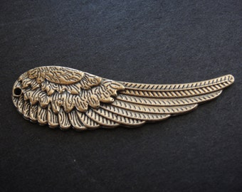 solid bronze large angel wing, angel wing, bronze angel wing