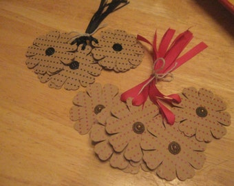 Cute as a Button Gift Tags, Hand Made Gift Tags,