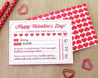 Printable Valentine's Day Coupon Gift