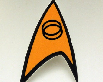 Trekkie Pin, Starfleet Science Insignia button, Spock badge