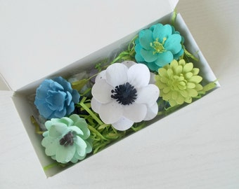 Eco Friendly Plantable Paper Flower and Seed Bomb Gift Set - Unique Gardening Gift -  Plant and Grow!