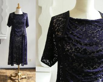 20s Dress, Lace, Art Nouveau Dress, Art Deco, 1920s gown, the great gatsby