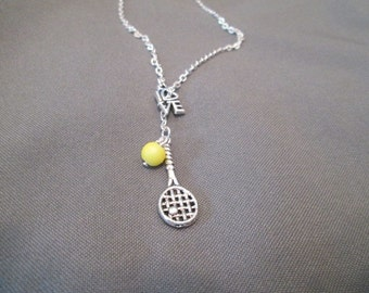 Tennis Lover Necklace - Lariat Style