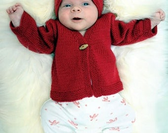 Charlotte's Cardy and Hat - knitting pattern #059
