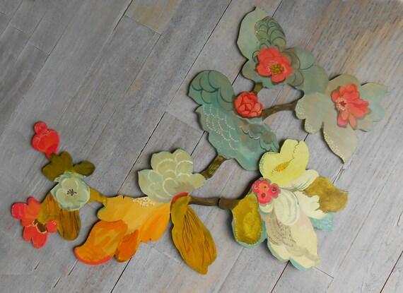 Blossoms Wood Wall Sculpture