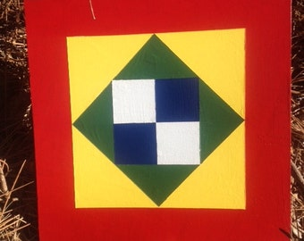 Handpainted Barn Quilt 1' x 1' For Inside or Outside