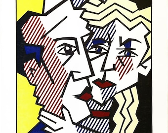"Roy Lichtenstein ""The Couple"" - 1980 - S/N Woodcut - COA - See Live at GallArt - Buy/Sell/Trade"