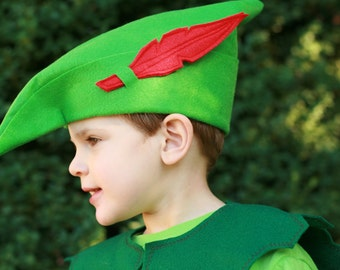 Robin Hood hat - Peter Pan hat - felt hat