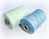 4 ply Irish Waxed Linen Cord Cornflower Fields Blue - 1 Yard