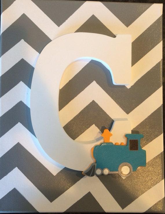 Chevron Wood Wall Decor : Items similar to chevron wood letter wall decor