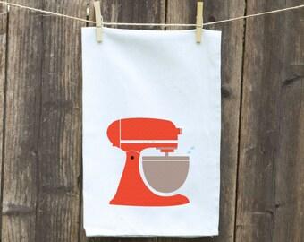 Flour Sack Towel-Tea-Dish-Hand-Kitchen-Vintage Cake Mixer