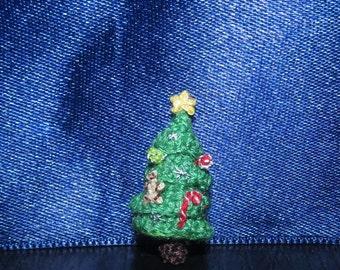 "Dollhouse Christmas tree - miniature christmas tree, dollhouse decor christmas dollhouse miniatures doll house christmas decoration 1"" scale"