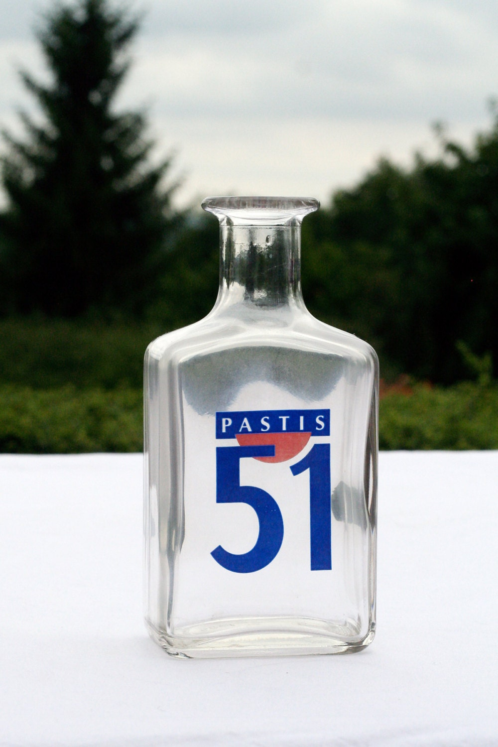original vintage french pastis 51 glass carafe haute juice. Black Bedroom Furniture Sets. Home Design Ideas