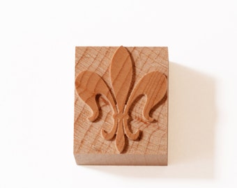 Fleur de Lis wood type 9 line - 6 pieces