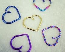 16g Niobium Heart - Price Per 1 (UR394)