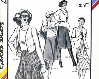 Stretch & Sew 430-2 Ladies Gored Skirts vintage sewing pattern sizes 30-46