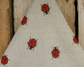 Ladybug Towel Ladybird Towel Ladybug Tea Towel Linen Towel Hand Towel Kitchen Towel Gift For Her Dish Towel Christmas Gift Birthday Gift