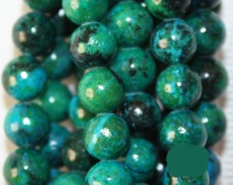 "Chrysocolla Beads - Round 6 mm Gemstone Beads - Full Strand 16"", 70 beads - Reconstituted"