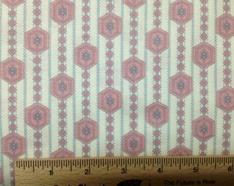 Annette Tatum Fall House Prairie fabric AT40 CORAL pink sewing quilting free spirit cotton fabric 100% cotton fabric by the yard