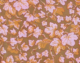 Phillip Jacobs Ivy fabric PJ19 Ochre brown orange pink floral leaves Qulting Sewing 100% cotton fabric by the yard