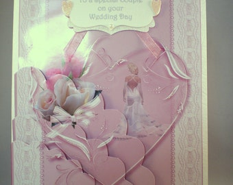 Decoupage,3D Wedding Card,Handmade,personalise