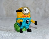 """Crocheted baby rattle """"Minion"""" for your baby"""