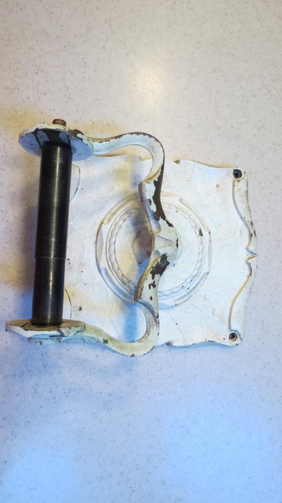 Vintage Cast Iron Toilet Paper Holder