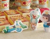 Marionetas de dedo - Fiesta Circo - juguete imprimible - Descarga Inmediata - Monopache