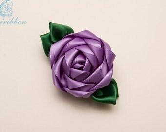 ribbon flower hair clip - hyacinth girl hair accessories