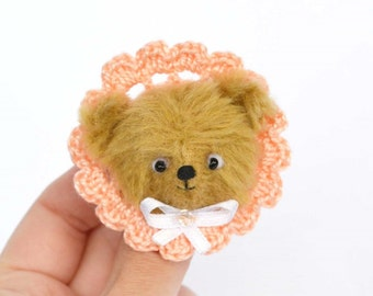 Brooch teddy bear ooak