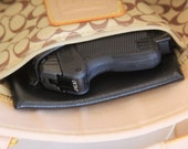 Mini Auto Black Concealed carry purse holster insert 380 LCP p380 P3AT gun CCW pistol