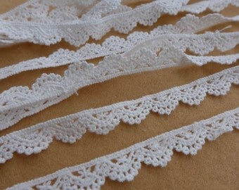 3 Yards Cotton Lace, White Lace Trimming, Christmas Gift Wrap, Embellishment Lace