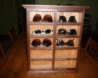 Walnut Sunglass Organizer Shelves....