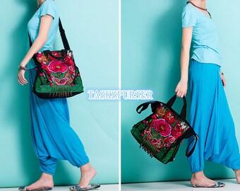Embroidery bag/ Handmade bag/Tote Bag /Hmong Bag /Shoulder Purse/Vintage Embroidered bag/Fashion bags/Diagonal bag/Leisure bag/messenger bag