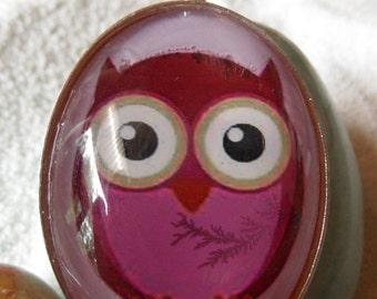 "Pendant - ""pink OWL'"