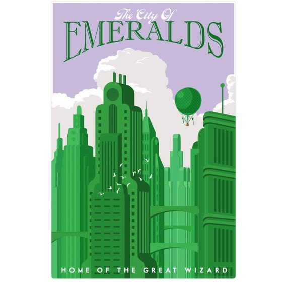 Emerald city wizard of oz wall decal 44821 for Emerald city wall mural