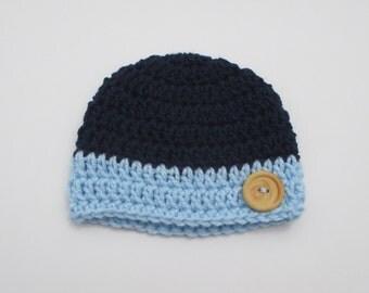 baby boy crochet hat, Newborn boy, baby beanie, beanie hat, newborn hat, baby hat, newborn photo prop, baby beanie, newborn beanie, button