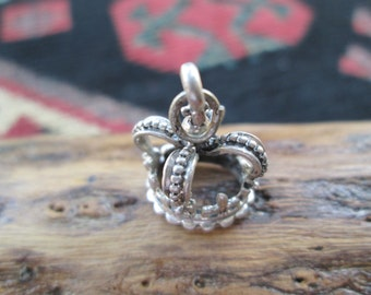 Beau Sterling Crown Charm