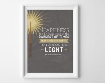Harry Potter Quote - Darkest of Times - 8x10