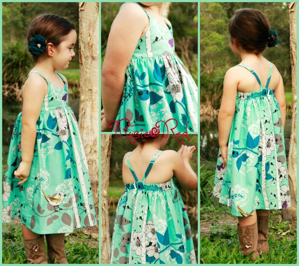 Hummingbird Dress girls' summer dress PDF pattern