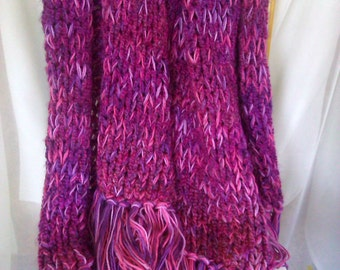 Mixed Berries HandKnit Throw - Free Shipping