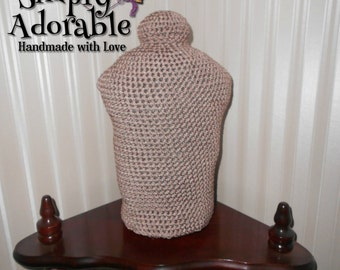 Crochet baby mannequin bust for display and props, Handmade infant 0 to 3 months