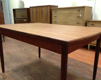 danish teak mid century modern dining table 725 obo free nyc