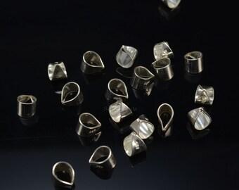 necklace bail, pendant bail, sterling silver bail, 925 sterling silver, silver bail,  jewelry bail, silver color, size 6x8mm - 10 pcs